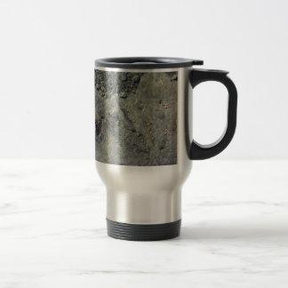 Rocky seabed through transparent sea water travel mug