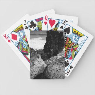 Rocky seascape poker deck