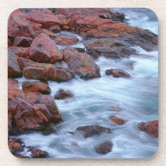 Rocky shoreline with water, Canada Coasters