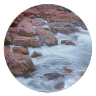 Rocky shoreline with water, Canada Party Plate