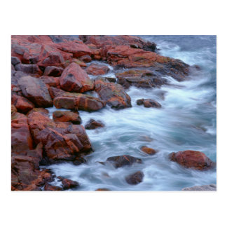 Rocky shoreline with water, Canada Postcard