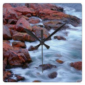 Rocky shoreline with water, Canada Wallclock