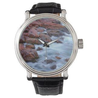 Rocky shoreline with water, Canada Watch