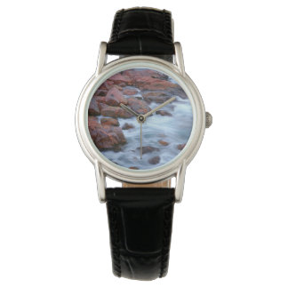 Rocky shoreline with water, Canada Wrist Watch