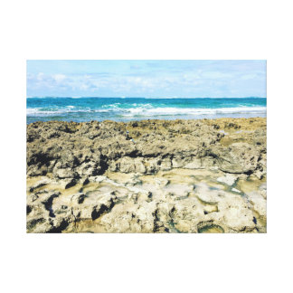 Rocky Shores of Hawaii~ by Jacqueline Kruse Canvas Print