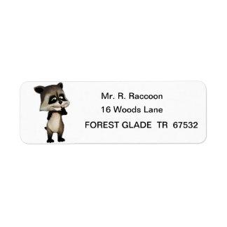 Rocky the Cute Cartoon Raccoon