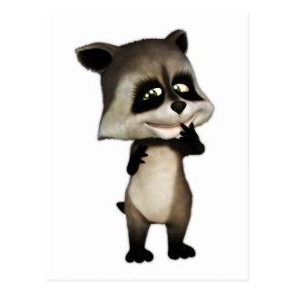 Rocky the Cute Cartoon Raccoon Post Cards