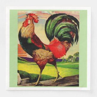 Rocky the Handsome Rooster Paper Napkins