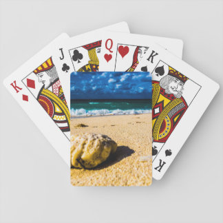 Rocky Tropical Beach Playing Cards