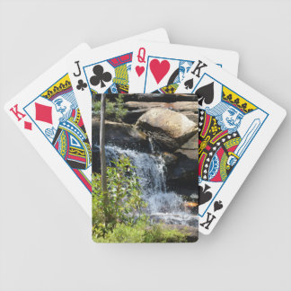 Rocky Waterfall Bicycle Playing Cards