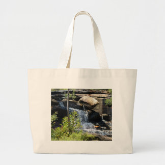 Rocky Waterfall Large Tote Bag
