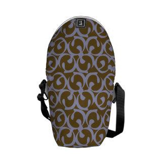 Rococo brown purple commuter bags