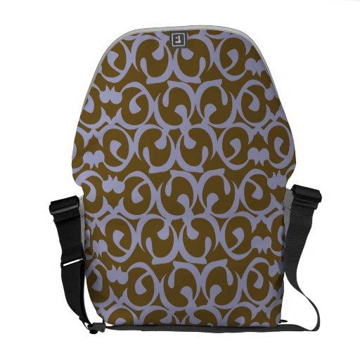 Rococo brown purple messenger bags