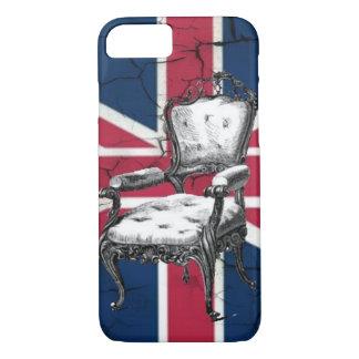 Rococo chair united kingdom union jack flag iPhone 8/7 case