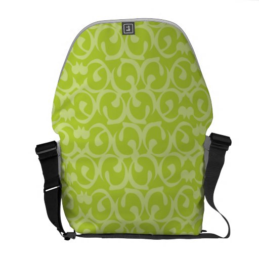 Rococo greens 2 messenger bag
