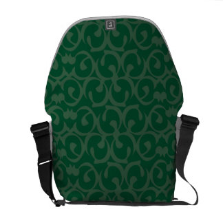Rococo greens courier bags