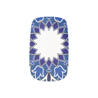 Rococo Indigo Beautiful Nail Art Decals Minx® Nail Wraps