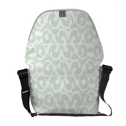 Rococo mint white messenger bag
