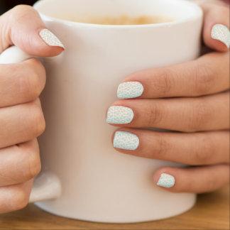 Rococo mint white minx ® nail wraps