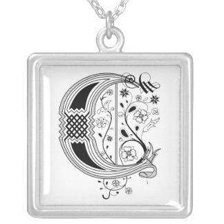 Rococo Monogram Letter C Jewelry