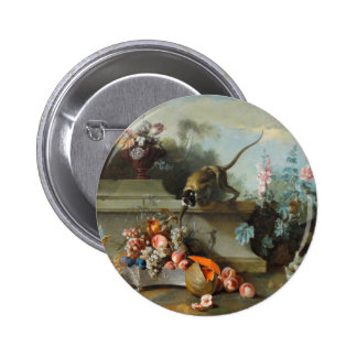 Rococo Painting for The Year of the Monkey 2 Inch Round Button