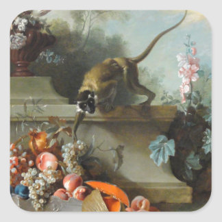 Rococo Painting for The Year of the Monkey Square Sticker