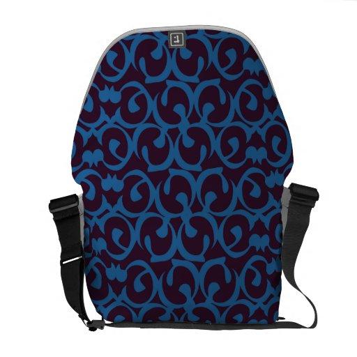 Rococo purple blues courier bag