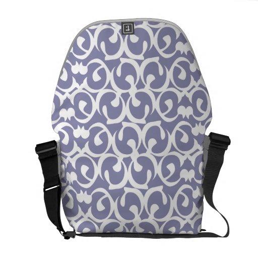 Rococo purple white courier bag