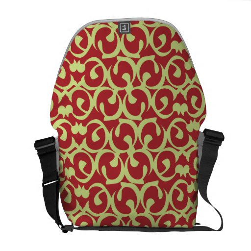 Rococo red green courier bags