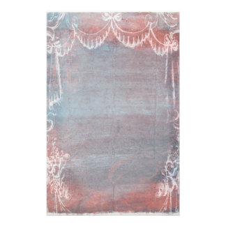 Rococo Style French Blue & Pink Stationery