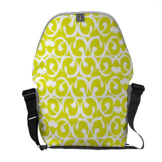 Rococo yellow white courier bag