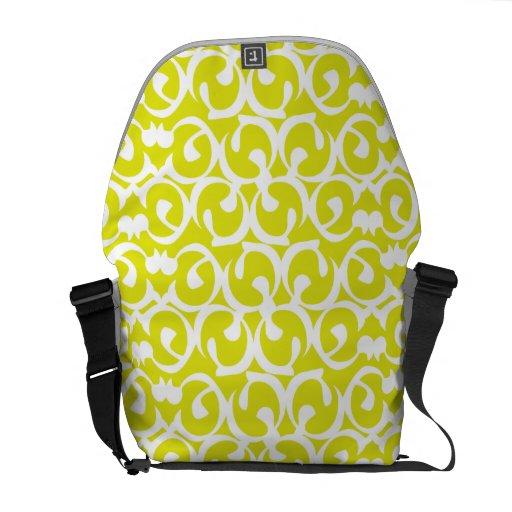 Rococo yellow white courier bag
