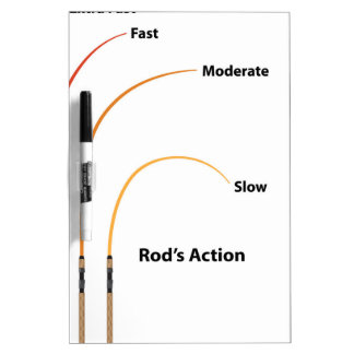 Rod action diagram characteristics vector illustra dry erase board