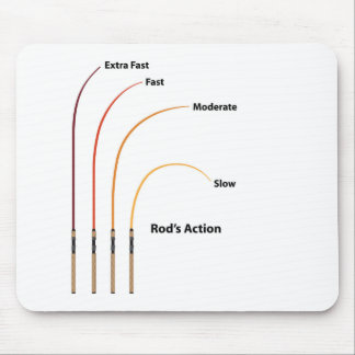 Rod action diagram characteristics vector illustra mouse pad