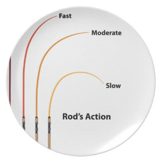 Rod action diagram characteristics vector illustra party plate