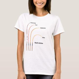 Rod action diagram characteristics vector illustra T-Shirt