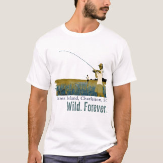 Rod and Reel Fishing on the Dewees Island Marsh T-Shirt