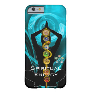 ROD ASCLEPIUS,7 CHAKRAS YOGA LOTUS POSE Blue Barely There iPhone 6 Case