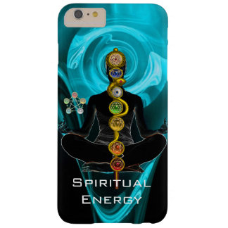 ROD ASCLEPIUS,7 CHAKRAS YOGA LOTUS POSE Blue Barely There iPhone 6 Plus Case