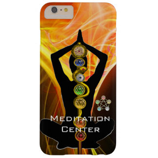 ROD ASCLEPIUS,7 CHAKRAS YOGA LOTUS POSE Yellow Barely There iPhone 6 Plus Case