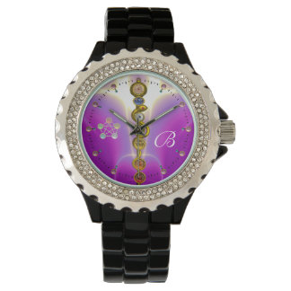 ROD ASCLEPIUS 7 CHAKRAS,YOGA,SPIRITUAL ENERGY Pink Watch