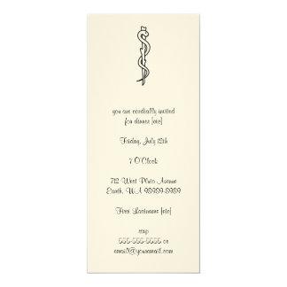 Rod d'Asclepius [symbole médical] Cartons D'invitation