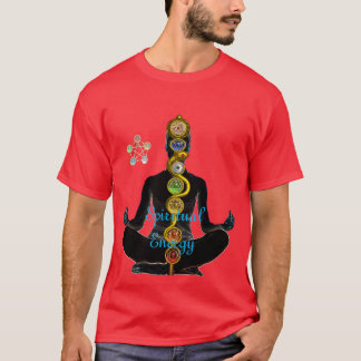 ROD OF ASCLEPIUS 7 CHAKRAS ,YOGA LOTUS POSE T-Shirt