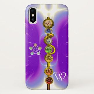 ROD OF ASCLEPIUS 7 CHAKRAS,YOGA ,SPIRITUAL ENERGY iPhone X CASE