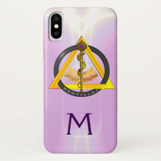 ROD OF ASCLEPIUS DENTIST DENTISTRY MONOGRAM iPhone X CASE