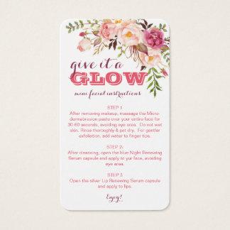 Rodan + Fields mini facials Business Card