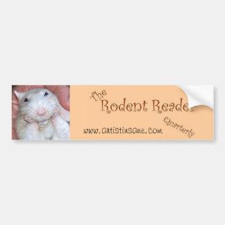 Rodent Reader Bumper Sticker 1