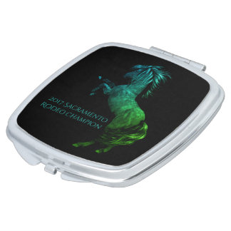 Rodeo America USA Horse Compact Mirror