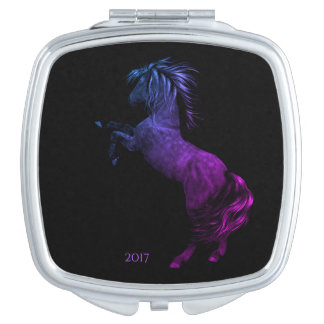 Rodeo America USA Horse Compact Mirror w/Date