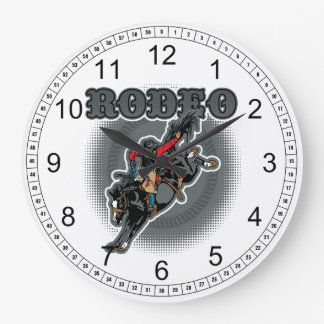 Rodeo Bareback Bronc Rider Clocks